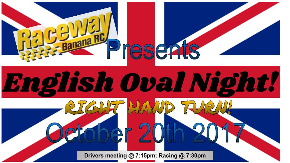English Oval Night Flyer